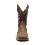 Bota Texana Masculina - Dallas Tabaco / Brown / Bandeira Brasil - Roper - Bico Quadrado - Cano Médio - Solado Strong Shock - Vimar Boots - 81295-A-VR