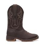 Bota Texana Masculina - Crazy Horse Café / Café - Roper - Work Boot - Bico Quadrado - Cano Médio - Solado Strong Shock - Vimar Boots - 81296-B-VR