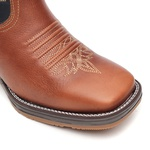 Bota Masculina - Atlanta Café | Marinho | Airtek Vermelho - Strong Shock - Vimar Boots - 81307-B-VR