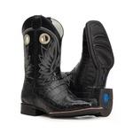 Bota Masculina - Jacaré Original Preto (RABO) | Mustang Preto - Magnum Western - Vimar Boots - 81312-E-VR