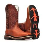 Bota Work Masculina - Atlanta Havana   Fóssil Sella - Solado Extreme - Vimar Boots - 81316-D-VR