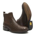 Botina Masculina - TATU Floather Brown - Roper - Bico Redondo - Cano Curto - Solado Colorplac - Vimar Boots - 82052-A-VR