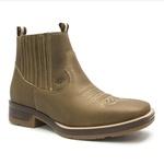 Botina Masculina - Dallas Tabaco - Roper - Bico Quadrado - Cano Curto - Solado Strong Shock - Vimar Boots - 82081-H-VR