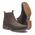 Botina Masculina - Crazy Horse Café - Roper - Bico Quadrado - Cano Curto - Solado Strong Shock - Vimar Boots - 82081-I-VR