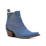 Botina Western Masculina - Jeans Delave - Bico Fino - Vimar Boots - 82086-A-VR
