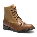 Coturno Masculino - Latego Pinhão / Caramelo - Bico Redondo - Cano Curto - Solado Colorplac - Vimar Boots - 83001-A-VR