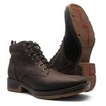 Tênis Country Masculino - Crazy Horse Café - Work - Bico Quadrado - Cano Curto - Solado Strong Shock - Vimar Boots - 85012-C-VR