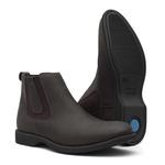 Botina Masculina - Mustang Oil Brown - Comfort - Bico Redondo - Cano Curto - Solado Gel Dress - Vimar Boots - 87013-A-VR