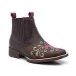 Botina Infantil Feminina - Dallas Castor / Pink - Roper - Bico Quadrado - Cano Curto - Vimar Boots - 91003-A-VR