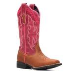 Bota Infantil Feminina - Dallas Bambu / Pink - Colorado - Vimar Boots - 94000-C-VR