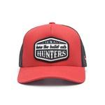 Boné Trucker Texas Hunters - Here The Bullet Eats - Vermelho / Vermelho / Preto - CAP-001-THS