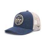 Boné Trucker Texas Hunters - Crossed Rifles - Azul / Azul / Bege - CAP-003-THS
