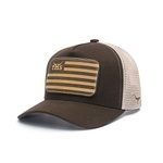 Boné Trucker Texas Hunters - THS Flag - Marrom / Marrom / Bege - CAP-004-THS