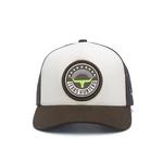 Boné Trucker Texas Hunters - Long Horn Emblem - Branco / Marrom / Marrom - CAP-006-THS
