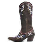 Bota Texana Feminina - Vecchio Café - Western - Bico Fino - Cano Longo - Solado Colorplac - Vimar Boots - 10196-A-VR