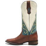Bota Texana Feminina - Fóssil Sella / Nossa Senhora Aparecida - Roper - Bico Quadrado - Cano Longo - Solado Nevada - Vimar Boots - 13055-A-VR