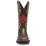 Bota Texana Feminina - Texas Café - Roper - Bico Quadrado - Cano Longo - Solado Freedom Flex - Vimar Boots - 13073-B-VR