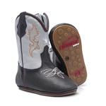 Bota Texana Baby - Fly Café / Marfim - Solado Bolha Natural - Bico Redondo - Cano Longo - West Country - WCB-1001-F
