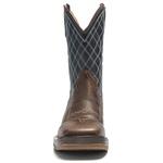 Bota Texana Masculina - Texas Café / Navy / Red - Roper - Bico Quadrado - Cano Médio - Solado Strong Shock - Vimar Boots - 81225-A-VR