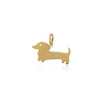 Pingente de cachorro em ouro 18k