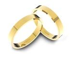 Alianças em Ouro 18k amarelo (3.00 mm de largura)