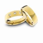 Alianças em Ouro 18K amarelo com Diamantes Anatômicas (5.40 mm de largura)