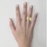 Alianças em Ouro 18k amarelo e Ouro 18K branco (10.00 mm de largura)