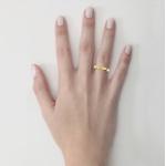 Alianças em Ouro 18K amarelo com Diamante Anatômicas (3.50 mm de largura)
