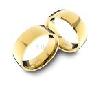 Alianças em Ouro 18K amarelo Anatômicas (6.50 mm de largura)