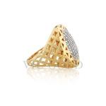 Anel em ouro 18k amarelo com Diamantes