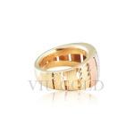 Anel linha comfort em ouro 18k amarelo, branco, Rose com detalhe fosco e polido