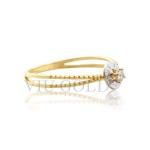 Anel 'meus 15 anos' em ouro 18k amarelo e branco com Diamante