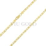 Corrente Piastrine de 60cm em ouro 18k amarelo