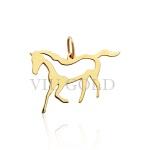 Pingente de cavalo em ouro 18k amarelo laser