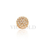 Pingente Ponto de luz em ouro 18k amarelo com 19 Diamantes sintéticos