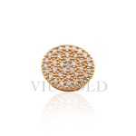 Pingente Ponto de luz em ouro 18k amarelo com 36 Diamantes sintéticos
