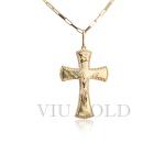 Pingente Cruz com Cristo em ouro 18k amarelo