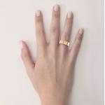 Alianças em Ouro 18K amarelo e Ouro 18K branco Anatômicas com Diamantes (6.00 mm de largura)