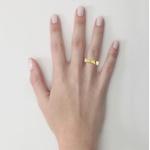 Alianças em Ouro 18K amarelo Anatômicas com Diamantes (4.00 mm de largura)