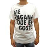 CAMISETA MASCULINA BRANCA FRASES DIVERTIDAS