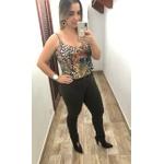 CALÇA FEMININA LOOPPER SARJA VERDE OLIVA CAPRI