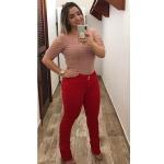 CALÇA FEMININA VERMELHA LOOPPER MODELADORA LEVANTA BUMBUM