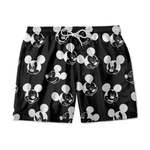 SHORT MASCULINO TACTEL PRETO MICKEY