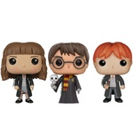 KIT FUNKO POP BONECOS COLECIONAVEIS HARRY POTTER 31 HERMIONE 03 E RON 02 ORIGINAIS