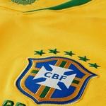 CAMISA SELEÇÃO BRASIL AMARELA TORCEDOR VERDE E AMARELA