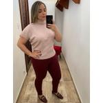 CALÇA FEMININA LOOPER LEGGING MARSALA CINTURA ALTA