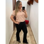 CALÇA FEMININA PRETA SOCIAL FLARE LOOPER