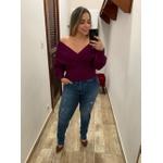 CALÇA FEMININA JEANS LOOPPER MODELADORA COM RASGOS