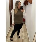 CALÇA FEMININA LOOPPER SARJA PRETA CÓS ALTO