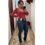CALÇA FEMININA JEANS LOOPPER CÓS ALTO